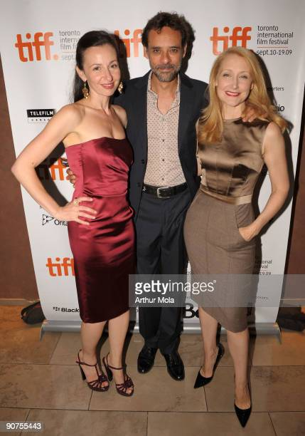 Director Ruba Nadda and actors Alexander Siddig and Patricia Clarkson attends the 'A Single Man' Premiere at the Isabel Bader Theatre during the 2009...