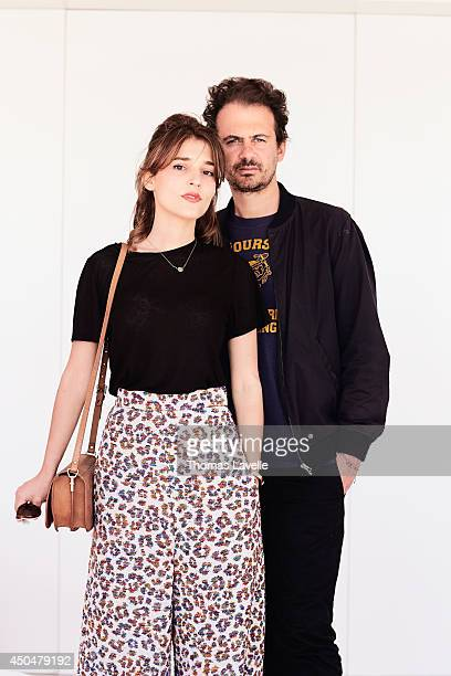 Director Ruben Amar and actress Lola Bessis are photographed for Self Assignment on May 20 2014 in Cannes France