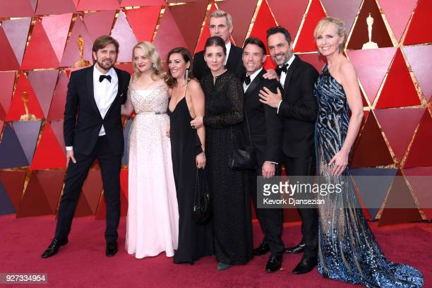 Director Ruben Ostlund and actor Elisabeth Moss arrive with the cast of The Square the 90th Annual Academy Awards at Hollywood Highland Center on...