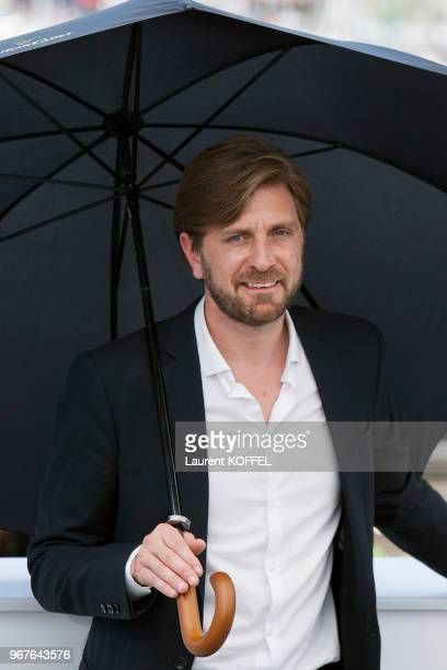 Director Ruben Ostlund attends the 'The Square' photocall during the 70th annual Cannes Film Festival at Palais des Festivals on May 20 2017 in...