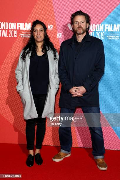 Director Rubika Shah and Ed Gibbs attend The 63rd BFI London Film Festival Awards on October 12 2019 in London England