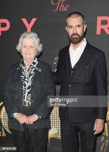Director Rupert Everett and his mother Sara Maclean Everett attend the UK premiere of 'The Happy Prince' at Vue West End on June 5 2018 in London...