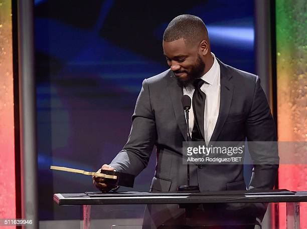 Director Ryan Coogler accepts the ABFF Rising Star award onstage during the 2016 ABFF Awards A Celebration Of Hollywood at The Beverly Hilton Hotel...