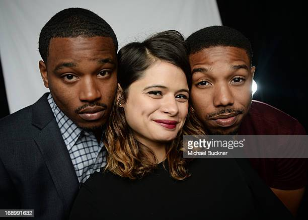 Director Ryan Coogler actress Melanie Diaz and actor Michael B Jordan pose for a portrait at the Variety Studio at the 66th Annual Cannes Film...