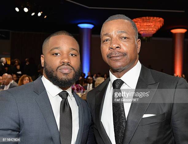 Director Ryan Coogler and actor Carl Weathers attend the 2016 ABFF Awards A Celebration Of Hollywood at The Beverly Hilton Hotel on February 21 2016...