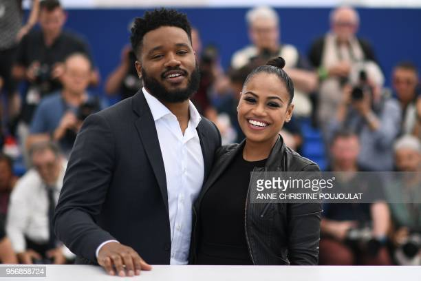 US director Ryan Coogler and his wife Zinzi Evans pose on May 10 2018 during a photocall at the 71st edition of the Cannes Film Festival in Cannes...