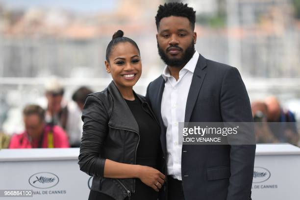 TOPSHOT US director Ryan Coogler and his wife Zinzi Evans pose on May 10 2018 during a photocall at the 71st edition of the Cannes Film Festival in...