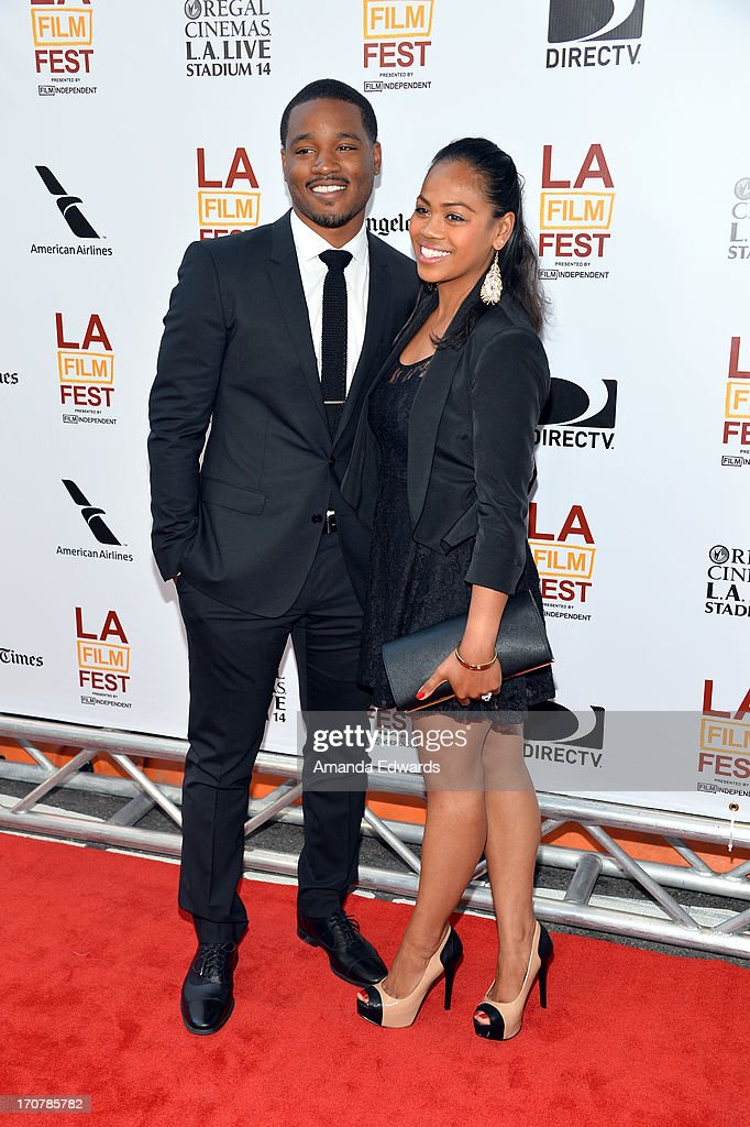 Director Ryan Coogler (L) and Zinzi Evans attend the 'Fruitvale Station' premiere during the 2013 Los Angeles Film Festival at Regal Cinemas L.A. Live on June 17, 2013 in Los Angeles, California.