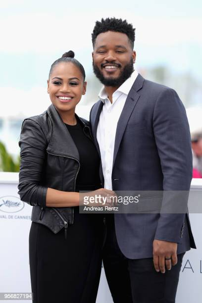 Director Ryan Coogler and Zinzi Evans attend the photocall for Rendezvous with Ryan Coogler during the 71st annual Cannes Film Festival at Palais des...