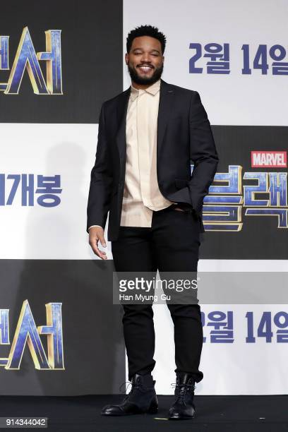 Director Ryan Coogler attends the press conference for the Seoul premiere of 'Black Panther' on February 5 2018 in Seoul South Korea