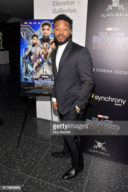 Director Ryan Coogler attends the screening of Marvel Studios' 'Black Panther' hosted by The Cinema Society on February 13 2018 in New York City