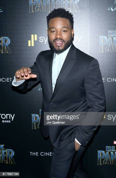 Director Ryan Coogler attends the screening of Marvel Studios' 'Black Panther' hosted by The Cinema Society with Ravage Wines and Synchrony at Museum...
