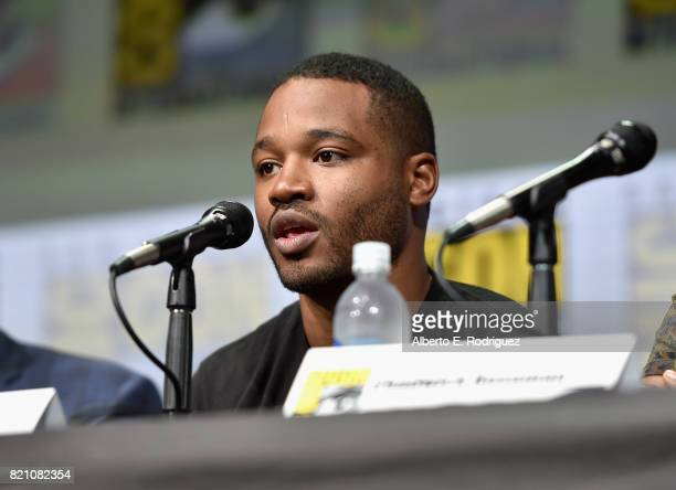 Director Ryan Coogler from Marvel Studios' 'Black Panther' at the San Diego ComicCon International 2017 Marvel Studios Panel in Hall H on July 22...