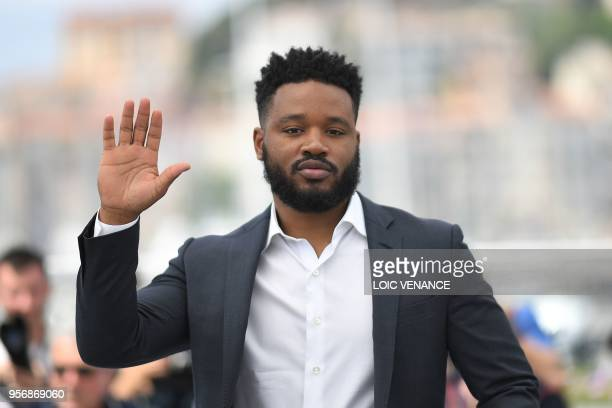 US director Ryan Coogler poses on May 10 2018 during a photocall at the 71st edition of the Cannes Film Festival in Cannes southern France