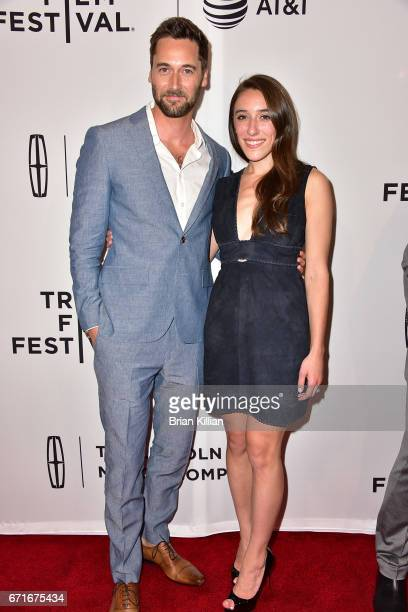 Director Ryan Eggold and producer Alexandra Rizk Keane attend the 2017 Tribeca Film Festival 'Literally Right Before Aaron' screening at SVA Theatre...