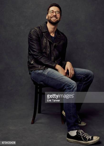 Director Ryan Eggold from 'Literally Right Before Aaron' poses at the 2017 Tribeca Film Festival portrait studio on on April 24 2017 in New York City