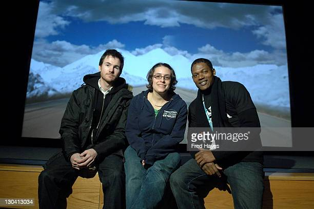 Director Ryan Fleck director Anna Boden and actor Algenis Perez Soto attend a screening of 'Sugar' at the Eccles Theatre during 2008 Sundance Film...