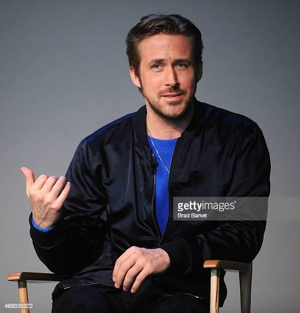 Director Ryan Gosling attends Apple Store Soho Presents Meet The Filmmaker Ryan Gosling 'Lost River' at Apple Store Soho on April 11 2015 in New York...
