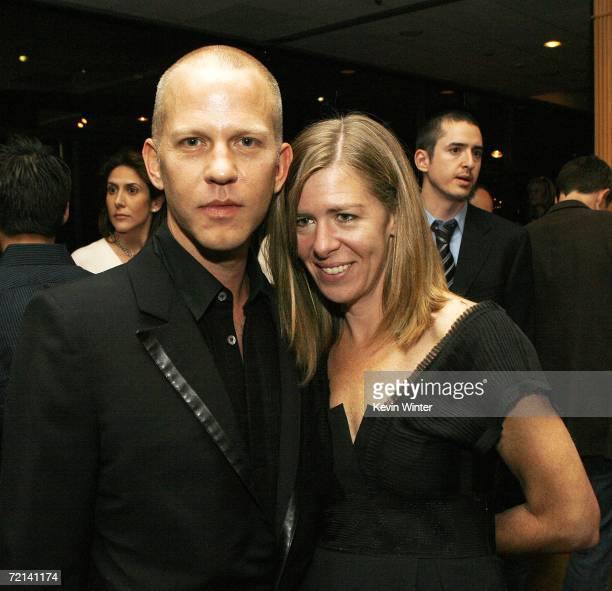 """Director Ryan Murphy and producer Dede Gardner pose at the afterparty for the premiere of TriStar Pictures' """"Running with Scissors"""" at the Academy of..."""