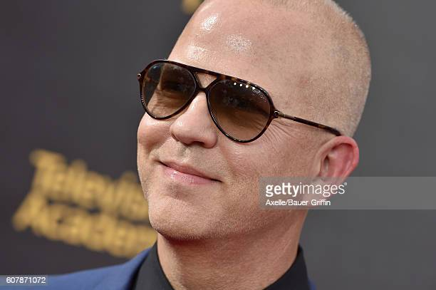 Director Ryan Murphy arrives at the 2016 Creative Arts Emmy Awards at Microsoft Theater on September 11 2016 in Los Angeles California