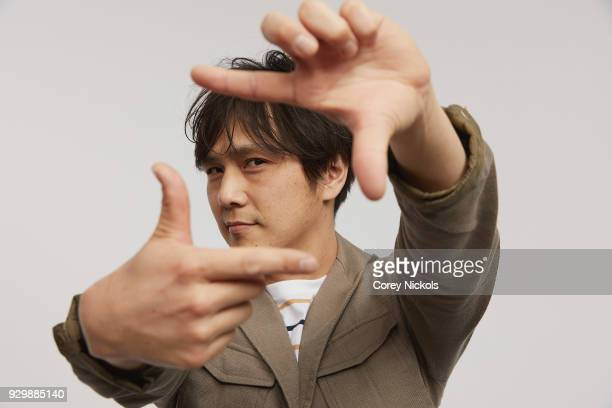 Director Ryusuke Okajima from the film 'From All Corners' poses for a portrait in the Getty Images Portrait Studio Powered by Pizza Hut at the 2018...