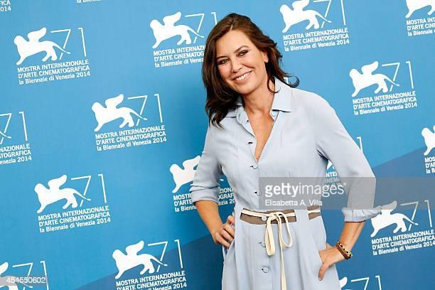 Director Sabina Guzzanti attends 'La Trattativa' photocall during the 71st Venice Film Festival on September 3 2014 in Venice Italy