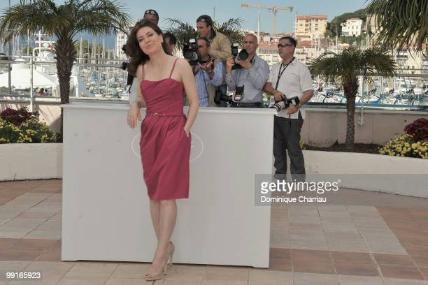Director Sabina Guzzanti attends the 'Draquila Italy Trembles' Photocall held at the Palais Des Festivals during the 63rd Annual International Cannes...