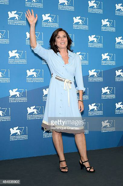 Director Sabina Guzzanti attends the 'La Trattativa' photocall during the 71st Venice Film Festival on September 3 2014 in Venice Italy