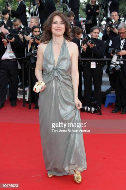 Director Sabina Guzzanti attends the Premiere of 'On Tour' at the Palais des Festivals during the 63rd Annual International Cannes Film Festival on...