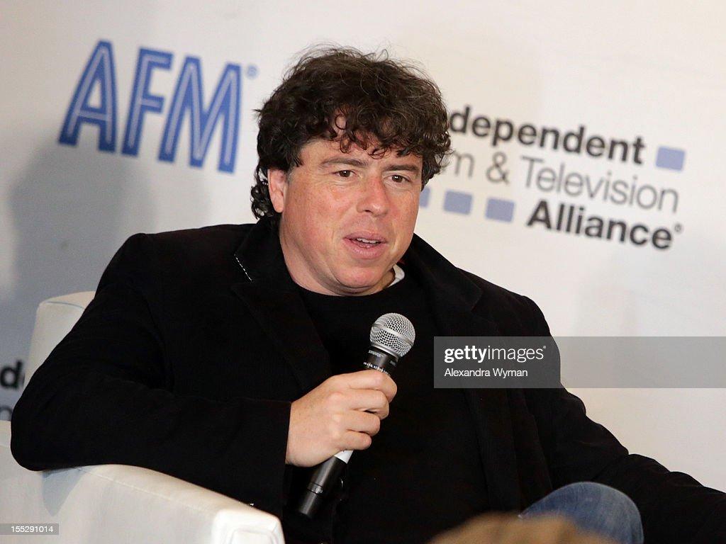Director Sacha Gervasi attends American Film Market - Day 3 at the Loews Santa Monica Beach Hotel on November 2, 2012 in Santa Monica, California.