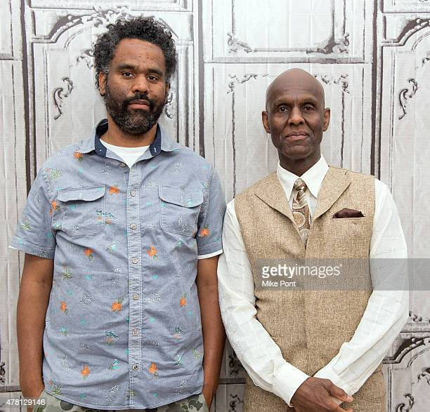 """Director Sacha Jenkins and Dapper Dan attend the AOL Build Speaker Series to discuss the film """"Fresh Dressed"""" at AOL Studios In New York on June 22,..."""
