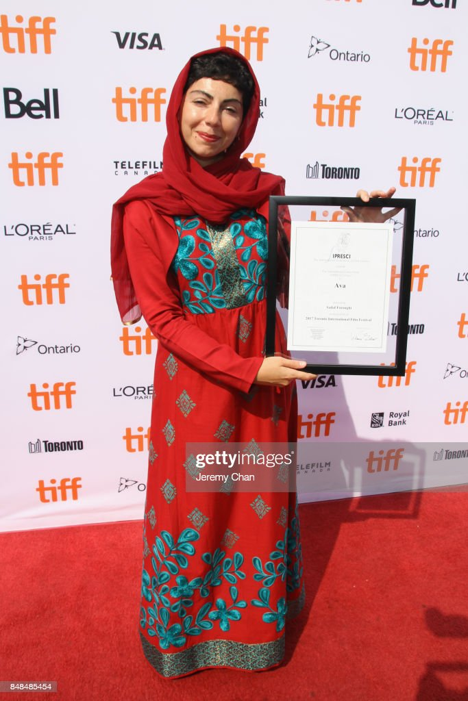Director Sadaf Foroughi poses after being awarded with the Prize of the International Federation of Film Critics Discovery for 'Ava' at the 2017 TIFF Awards Ceremony at TIFF Bell Lightbox on September 17, 2017 in Toronto, Canada.
