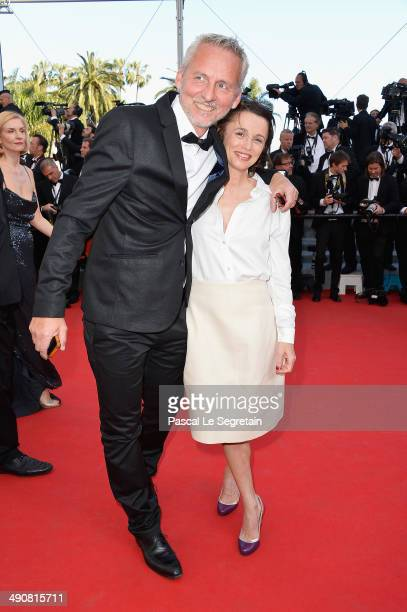 Director Sales Getty Images France Anne Boussarie and Pierre Peybernes attend the 'Mr Turner' premiere during the 67th Annual Cannes Film Festival on...