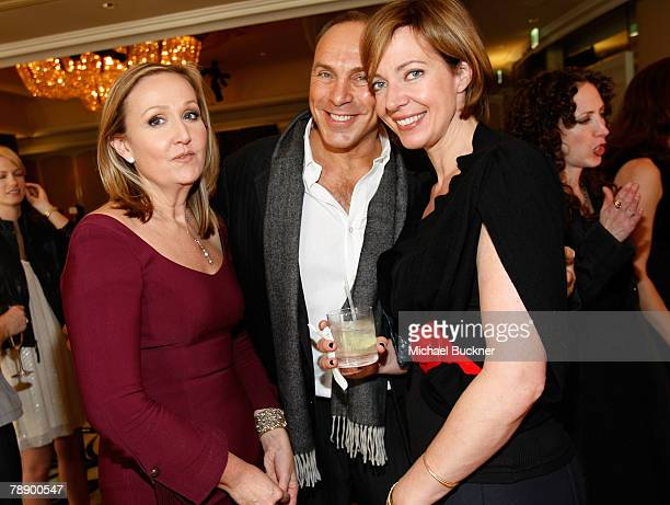 DIC director Sally Morrison Neil Lane and actress Allison Janney during the Diamond Information Center and InStyle Diamond Fashion Show Preview...