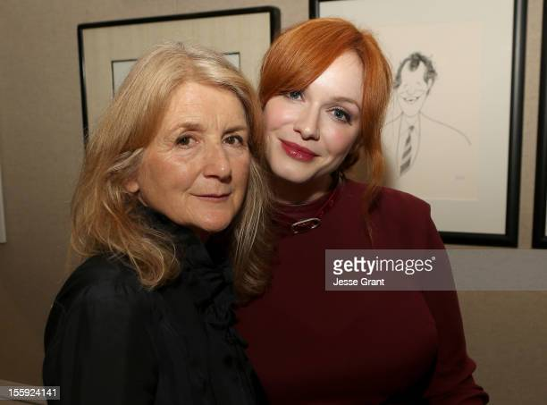 """Director Sally Potter and actress Christina Hendricks attend the """"Ginger & Rosa"""" Los Angeles special screening after party at The Paley Center for..."""