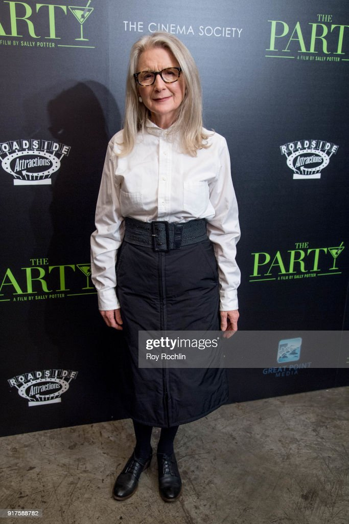 Director Sally Potter attends the screening of 'The Party' hosted by Roadside Attractions and Great Point Media with The Cinema Society at Metrograph on February 12, 2018 in New York City.