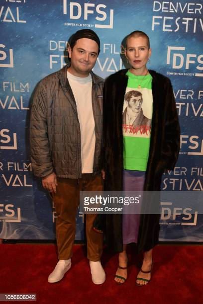 Director Sam Boyd and Actor Dree Hemingway of the film In a Relationship attend the 41st annual Denver Film Festival on November 2 2018 in Denver...
