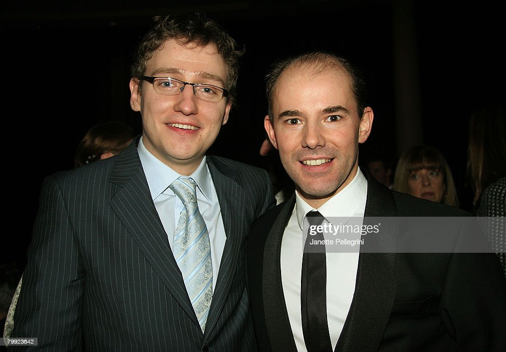 Director Sam Buntrock, and Cast Member Daniel Evans attend 'Sunday in the Park with George' Broadway Opening Night After Party at The Sheraton Hotel on February 21, 2008 in New York City.