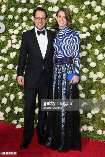 Director Sam Gold and Amy Herzog attend the 2017 Tony Awards at Radio City Music Hall on June 11 2017 in New York City