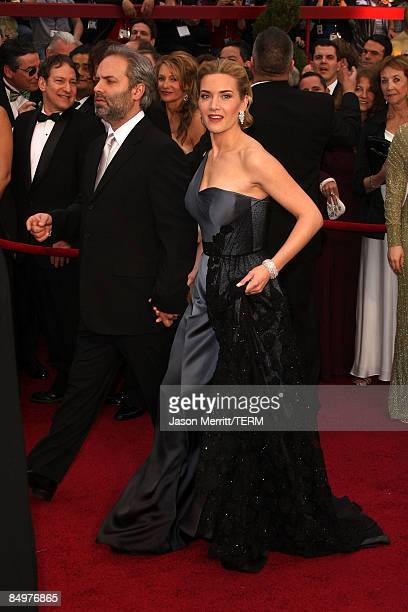 Director Sam Mendes and wife actress Kate Winslet arrive at the 81st Annual Academy Awards held at Kodak Theatre on February 22 2009 in Los Angeles...