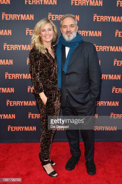 Director Sam Mendes and wife Alison Balsom attend The Ferryman Broadway opening night at The Bernard B Jacobs Theatre on October 21 2018 in New York...