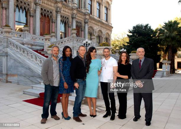 Director Sam Mendes Naomie Harris Daniel Craig Berenice Marlohe Ola Rapace producers Barbara Broccoli and Michael G Wilson attend a photocall with...