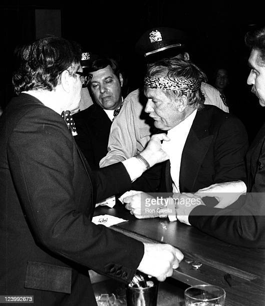 Director Sam Peckinpah in a scuffle at the 2nd Annual American Film Institute Lifetime Achievement Awards Honoring James Cagney on March 13 1974 at...
