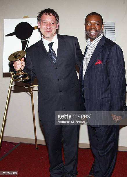 Director Sam Raimi and actor LeVar Burton attend the 31st Annual Saturn Awards at the Universal Hilton Hotel on May 3 2005 in Universal City...