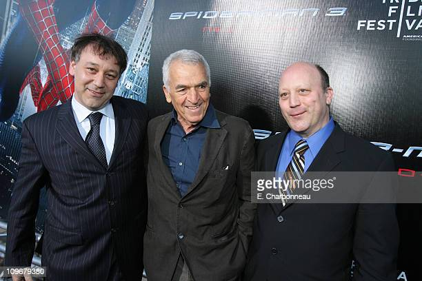 Director Sam Raimi Screenwriter Alvin Sargent and Screenwriter Ivan Raimi