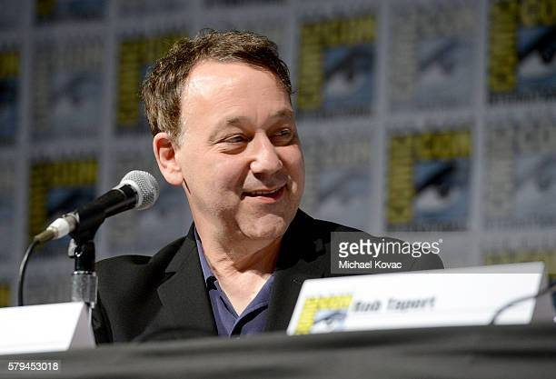Director Sam Raimi speaks on stage during the 'Ash vs Evil Dead' panel during ComicCon International at the San Diego Convention Center on July 23...