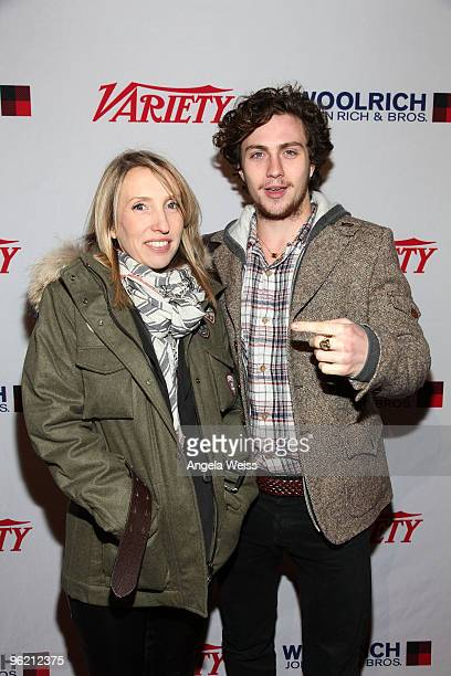 Director Sam Taylor Wood and actor Aaron Johnson attends Variety 10 Directors to Watch at St Regis on January 24 2010 in Park City Utah