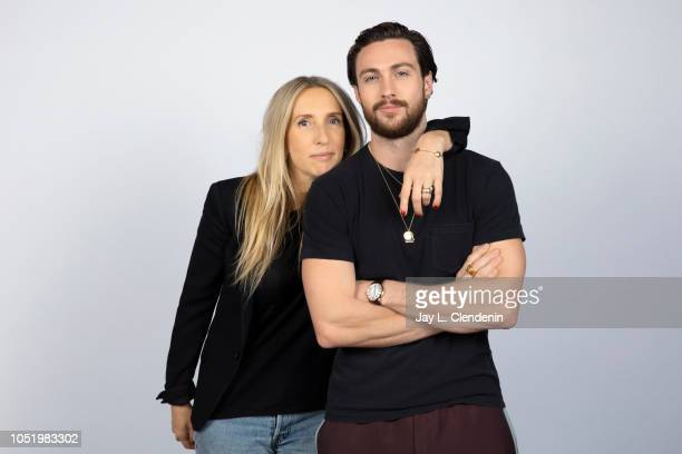 Director Sam TaylorJohnson and actor Aaron TaylorJohnson are photographed for Los Angeles Times on September 10 2018 in Toronto Ontario PUBLISHED...