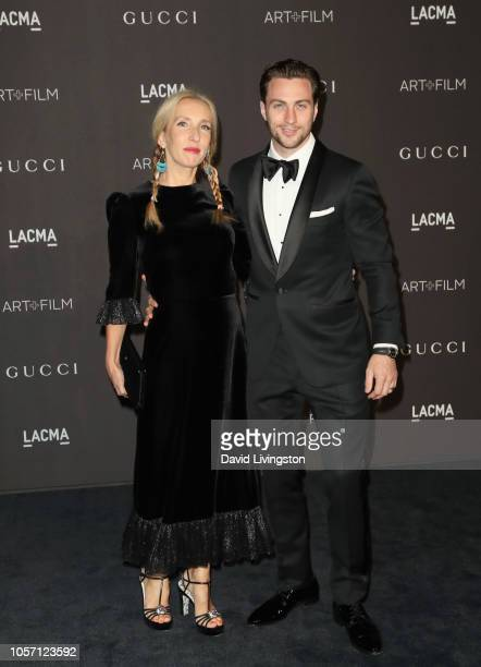 Director Sam TaylorJohnson and actor Aaron TaylorJohnson attend 2018 LACMA Art Film Gala honoring Catherine Opie and Guillermo del Toro presented by...