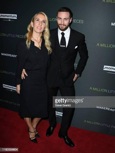 """Director Sam Taylor-Johnson and actor Aaron Taylor-Johnson attend the special screening of Momentum Pictures' """"A Million Little Pieces"""" at The London..."""